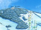 Mapa lyžařského areálu Obří sud Javorník.