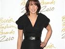 Manželka britského ministerského předsedy Samantha Cameronová na předávání britských módních cen