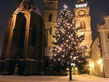 Vánoční strom v Hradci Králové.