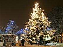 Vánoční strom v Karlových Varech.