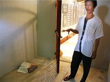 V sídle AAPP je i model cely, ve které tráví političtí vězni roky života