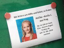 Pátrání po devítileté Aničce ve Vídni.