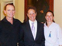 Šéf FBR David Eubank (vlevo) s ministrem financí USA Timothy Geithnerem