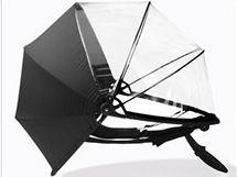 Rozložená nubrella připomíná boudičku od kočárku