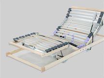 Elektricky polohovatelné rošty lze použít až do šířky postele 120 cm
