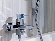 Vodovodní baterie Faris (Aqua Trade) vyhovuje majiteli svými kubickými tvary