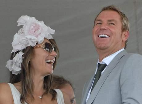 Liz Hurley a Shane Warne