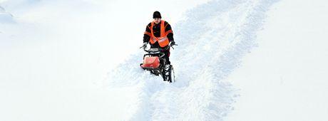 Sněhova kalamita na Frýdlantsku.