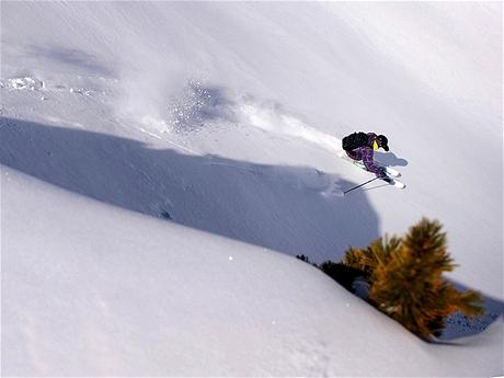 Lyžař Ondřej Zýka ve švýcarském Nendaz
