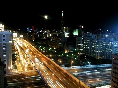Noční Taipei