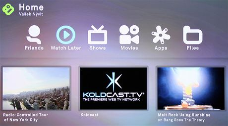 Boxee Box - menu