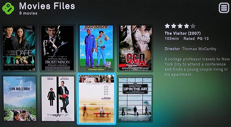 Boxee Box - movie menu