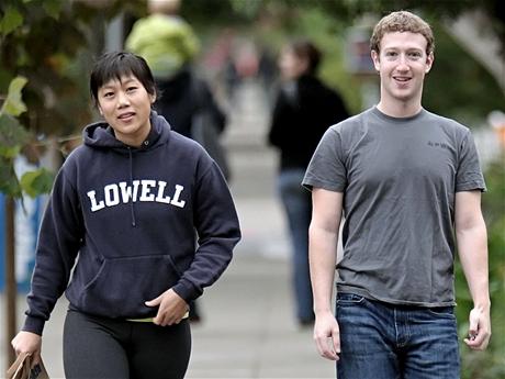 Mark Zuckerberg s přítelkyní Priscillou Chang