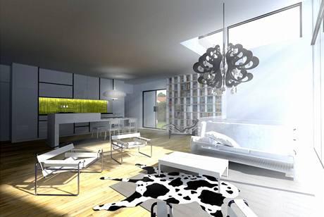 Obytný prostor bude tvořit několik jasně vymezených zón