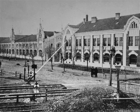 Historický snímek prostějovské továrny Wikovka.