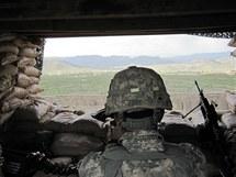 Americká základna Margah v provincii Paktika v Afghánistánu