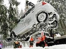 Přívaly sněhu zkomplikovaly dopravu v Německu. (14. prosince 2010)