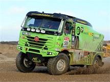 Marek Spáčil s Tatrou při testech před Dakarem 2011.
