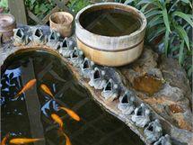 O živou vodu v křtitelnicích se starají živé rybky z Japonska, které jsou pro stísněný prostor jezírek speciálně vyšlechtěné
