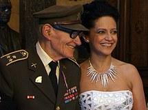 Plukovník Jan Plovajko s Lucií Bílou