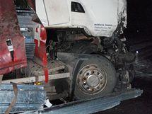 Nehoda na rychlostní silnici R35 z Olomouce do Mohelnice.