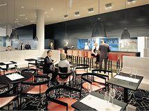 Vizualizace interiéru čtyřhvězdičkového hotelu, který bude v areálu stát.