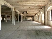 Současný interiér olomoucké Korunní pevnosti, kde chce Univerzita Palackého vybudovat Pevnost poznání.