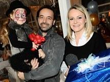 Lenka Hornová s manželem dcerou Laurou