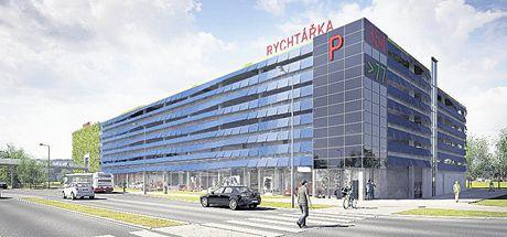Studie parkovacího domu Rychtářka, který bude v roce 2011 otevřen v Plzni