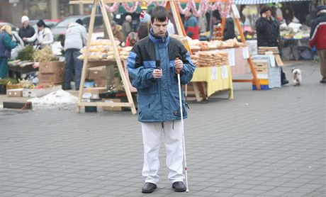 Nevidomý Pavel Sláma z Ostravy-Poruby nahrává zvuky velkoměsta.
