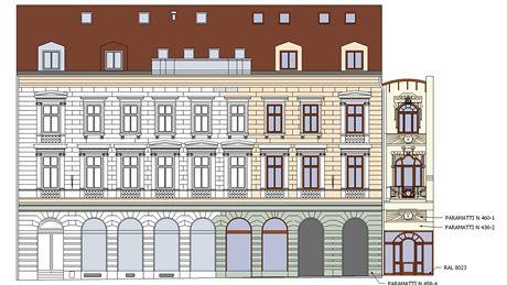 Návrh opravené budovy jabloneckého Hotelu Praha.