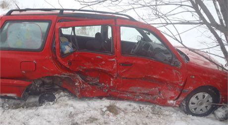 Nehoda na Opavsku, při které se zranilo pět lidí.