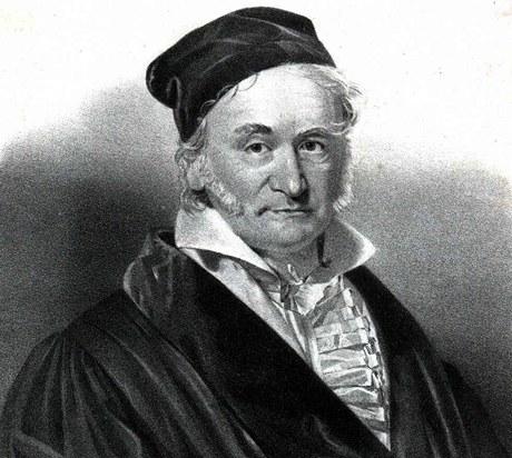 Johann Carl Friedrich Gauss (30. dubna 1777, Braunschweig - 23. února 1855, Göttingen). Slavný německý matematik a fyzik.