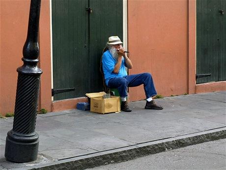 Pouliční harmonikář