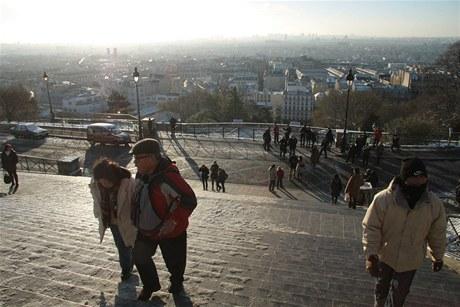 Výhled na Paříž od Sacré Coeur
