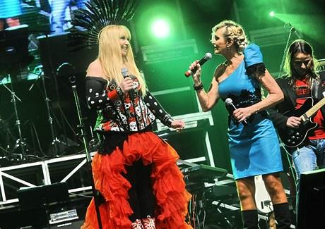 Polská zpěvačka Maryla Rodowicz a Helena Vondráčková