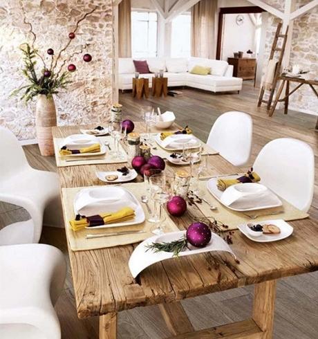 Bílé vánoční stolování ve stylu Provence