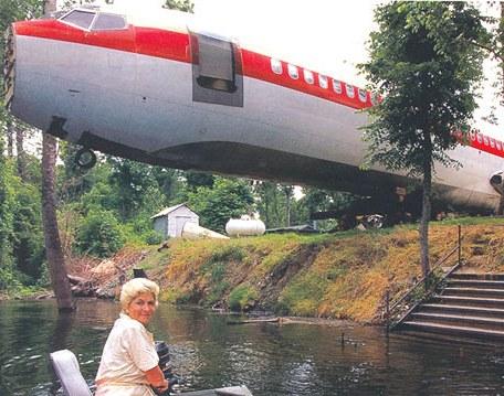 Američanka Joanne Ussery si v roce 1994 vyhlídla vyřazený Boeing 727
