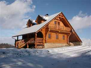 srubový dům Lípa