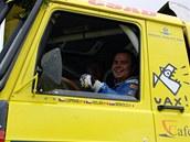 Aleš Loprais v Tatře pro Dakar 2011 při testech v Senici.