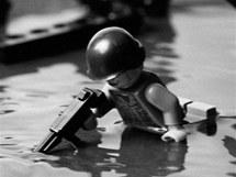 Classics in Lego: Vylodění americké armády v Normandii na pláži Omaha