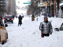 Sníh zkomplikoval v New Yorku dopravu