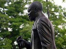 Socha Louise Armstronga vArmstrongově parku, na místě Kongo Square, kde se kdysi mezi jamujícími černochy zrodil jazz