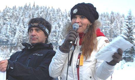 Mahulena Bočanová při otevírání lyžařské sezony v zimním středisku Nassfeld v Rakousku