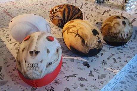 Tato - pufy v podobě zvířátek a lebek