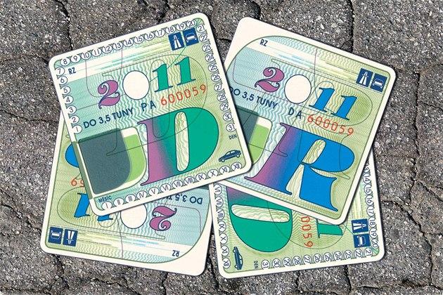 Dálni�ní známky pro rok 2011.