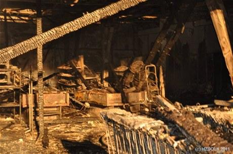 Požár bývalé celnice Bílý Potok