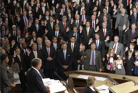 Nový Kongres skládá přísahu (5. ledna 2011)
