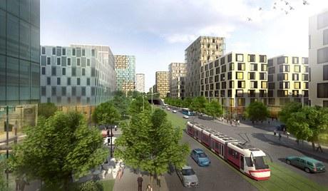 Takhle by se podle developer� mohl zm�nit obrovsk� prostor v Praze 3