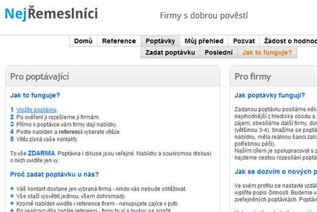 NejŘemeslníci.cz  - poptávky může zadat zdarma kdokoli, diskuze je veřejná